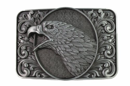 Hogar Zinic Alloy Western Belt Buckle Bald Eagle Buckles Color Antique Silver