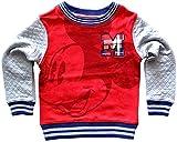 Mad Engine Little Boys' Disney Mickey 28 Embroidered Red Sweatshirt