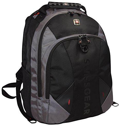 "Swissgear® Pulsar 16"" Padded Laptop Backpack/School Travel Bag-Black/Gray"