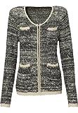 APART Fashion - Veste en tricot - crème/noir - Taille 36