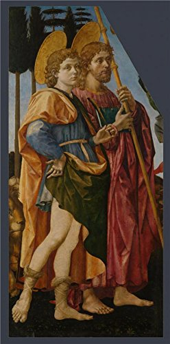 Perfect Effect Canvas ,the Replica Art DecorativePrints On Canvas Of Oil Painting 'Francesco Pesellino And Fra Filippo Lippi And Workshop - Saints Mamas And James,1455-60', 12x24 Inch / 30x62 Cm Is Best For Nursery Gallery Art And Home Decoration And Gifts (Target Faux Leather Jackets compare prices)