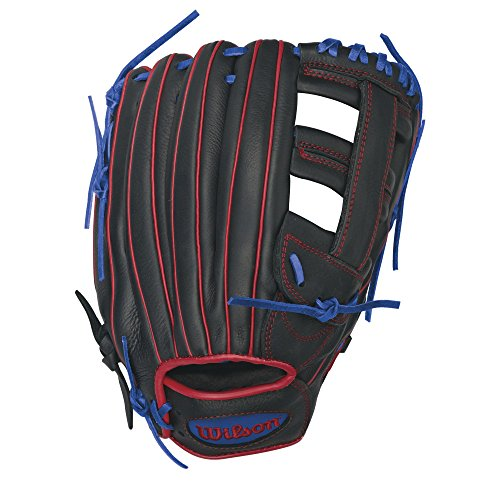 Wilson Showtime Slowpitch Softball Glove 13 inch , Black (Mens Slow Pitch Softball Gloves compare prices)
