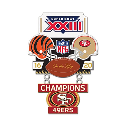 Super Bowl XXIII (23) Bengals vs. 49ers Champion Lapel Pin (Super Bowl 23 compare prices)