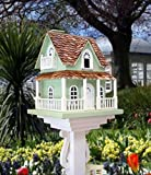 """14.5"""" Fully Functional Enchanted Fairytale Cottage Outdoor Garden Birdhouse"""