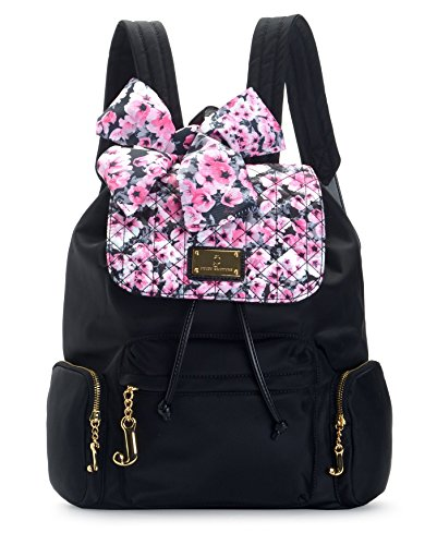 Juicy Couture Womens Malibu Nylon Collection Backpack, Pink Floral, One Size