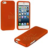myLife (TM) Orange Flat Series (2 Piece Snap On) Hardshell Plates Case for the iPhone 5/5S (5G) 5th Generation... by myLife Brand Products