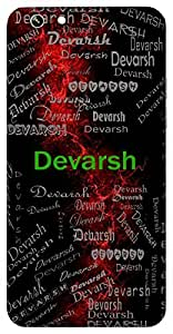 Devarsh (God's Gift) Name & Sign Printed All over customize & Personalized!! Protective back cover for your Smart Phone : Moto G3 ( 3rd Gen )