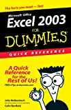 Excel 2003For Dummies Quick Reference (0764539876) by Walkenbach, John