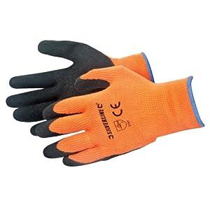 Silverline 736809 Gants haute visibilité Taille Unique Orange