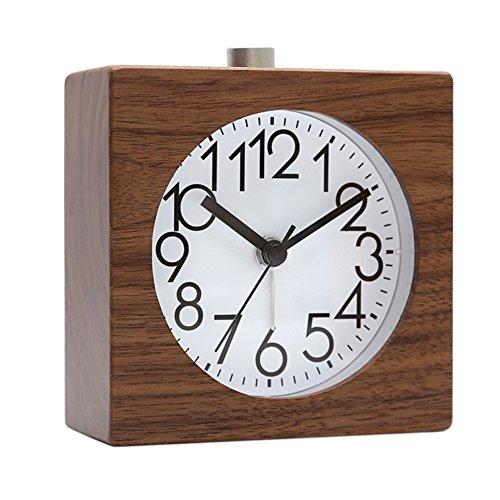 Classic Silent Alarm Clock Multifonction Horloge Avec Veilleuse Fonction Snooze