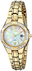 Seiko Women's SUT070 Solar-Power Gold-Tone Bracelet Watch