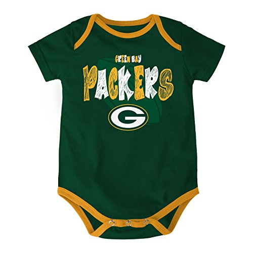 NFL Green Bay Packers Bodysuit Set Youth 0 3 Months