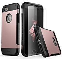 Yesgo Slim Case for iPhone 7 with Tempered Glass Screen Protector