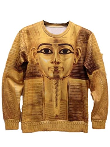 EASY Men Pharaoh of Egypt Casual hip hop Sweater Shirts top coat Long Sleeve
