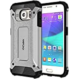 Galaxy S6 Case Cubix Rugged Armor Case For Samsung Galaxy S6 (Silver)