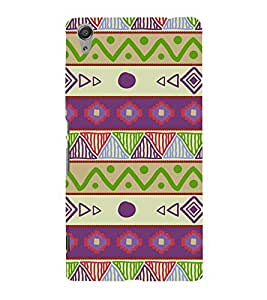 Ethenic Tribal Art 3D Hard Polycarbonate Designer Back Case Cover for Sony Xperia C6 Ultra