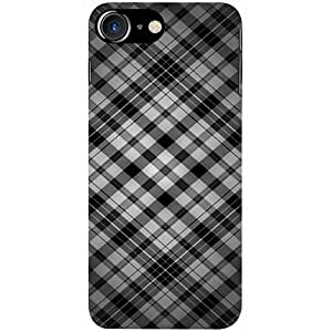 Casotec Black Stripes Pattern Design 3D Printed Hard Back Case Cover for Apple iPhone 7