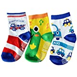 C2BB 3 pairs of boys anti slip baby socks children from 1 to 3 years old item 33