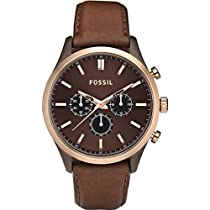 FOSSIL Walter Leather Watch - Brown