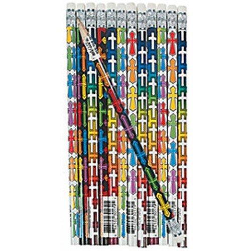 2 dozen Wooden Cross Pencils Christian #2 (Pack of 24) - 1