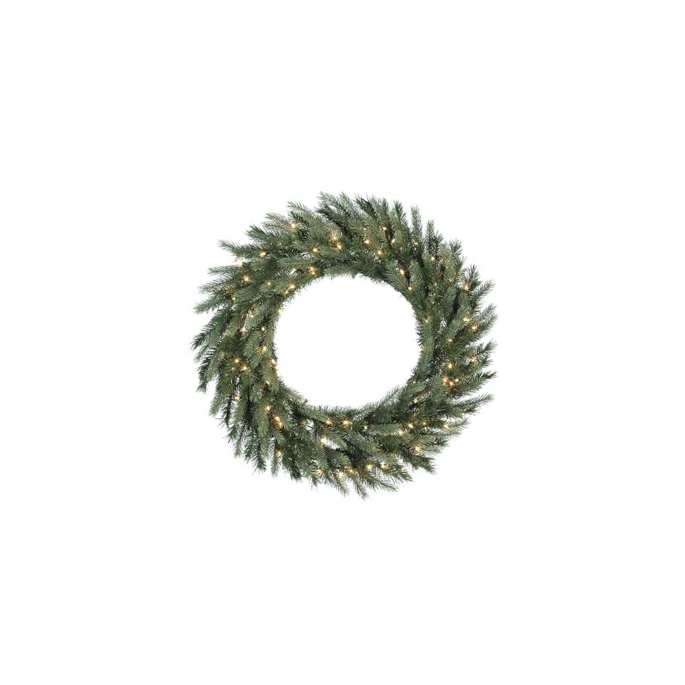 36 Pre Lit Tiffany Spruce Artificial Christmas Wreath   Clear Lights