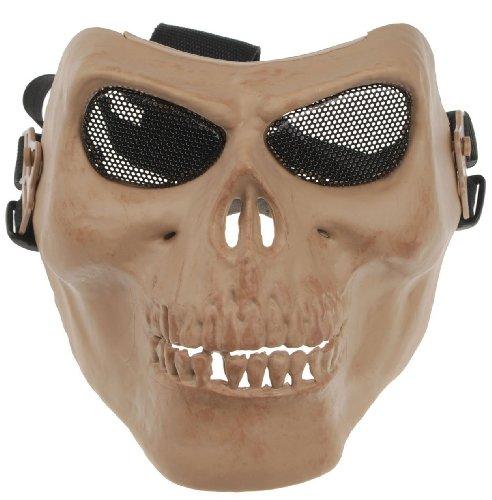 Gaga Tactical Face Protect Army M02 Metallic Skull Warrior Armor Mask Sand Color