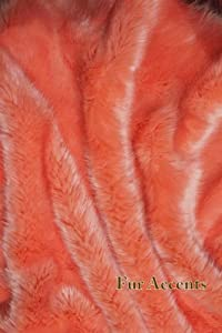 Amazon Com Fur Accents Throw Blanket Tissavel Fur Peach