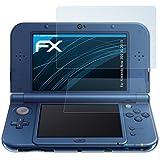 atFoliX Nintendo New 3DS XL (2015) Schutzfolie Folie - 3er Set - FX-Clear kristallklar