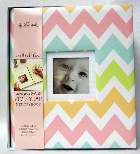 Hallmark Chevrons Girl 5 Year Memory Album - 1
