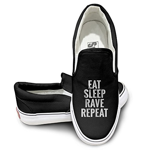 Casual Eat Sleep Rave Repeat Instagram Fashion Canvas Shoes Sneakers Casual Sneakers