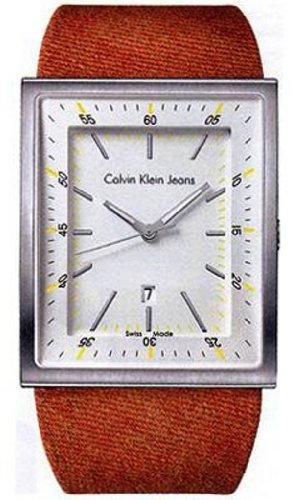 Calvin Klein - K4211141 - Boundary - Gents Watch - Analogue Quartz - Silver Dial - Brown Leather StrapFabric