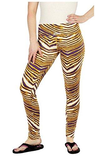 Minnesota Vikings NFL Women's Team Color Tiger Print Legging