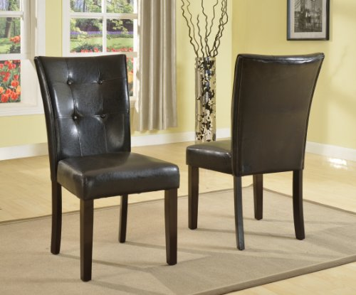 Roundhill Blended Leather Parson Dining Side