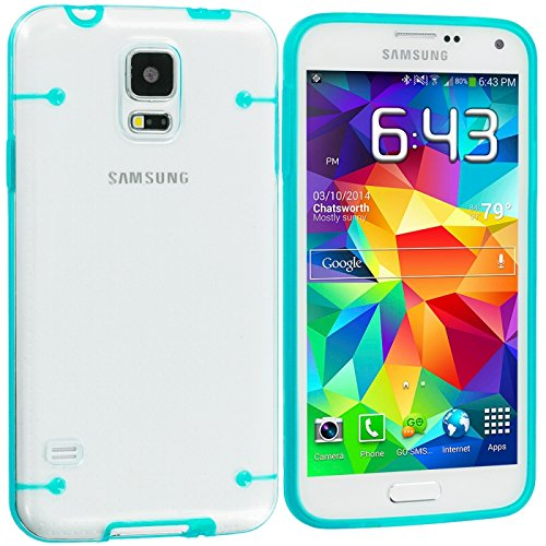 Cell Accessories For Less (Tm) Baby Blue Crystal Robot Hard Case Cover For Samsung Galaxy S5 - By Thetargetbuys front-831753