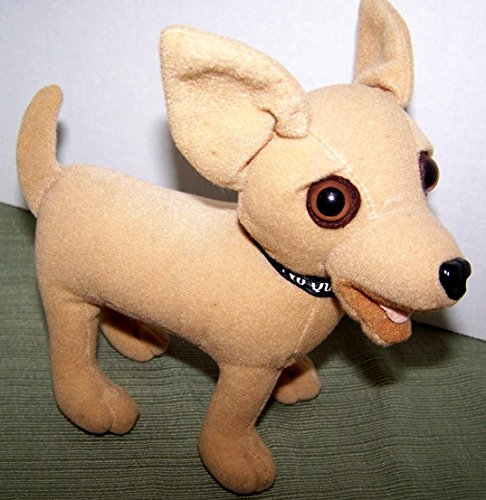"Taco Bell Plush Speacking Dog - Says ""Yo Quiero Taco Bell"" - Collectible Discontinued Stuffed Animal"