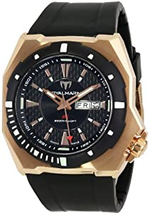 TechnoMarine Men's P1RG02-01 RoyalMarine P1 Automatic Gold-tone Black Rubber Watch