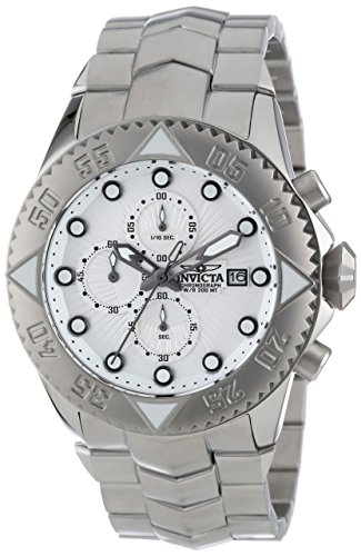 Invicta Men's 13096 Pro Diver Chronograph Silver Textured Dial Stainless Steel Watch