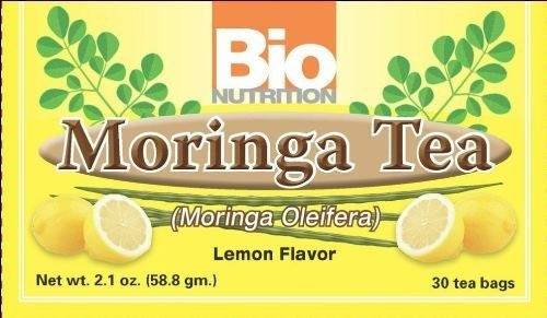 Bio Nutrition Moringa Tea Lemon, 30 Bags - 3 Pack