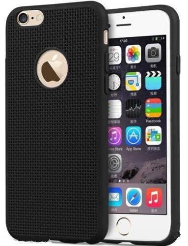 ikazen jali i6 black Heat Dissipation Hollow Thin Soft TPU Back Case Cover for Apple Iphone 6 6S - Black