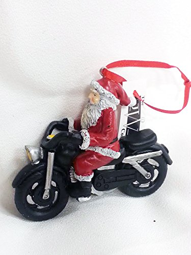 Santa Riding Motorcycle Ornament