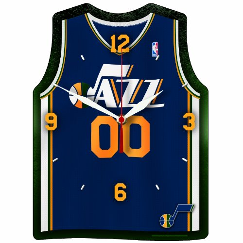 NBA Utah Jazz High Jersey Shaped Definition Clock