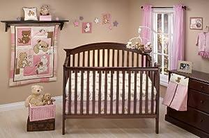 Little Bedding Dreamland Teddy Girl Crib Bedding Set by Little Bedding
