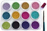 12 Colors 3D Mini Beads Balls For Amazing And Hot Caviar Nails With Extra Bonus