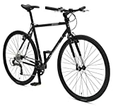 Retrospec Bicycles AMOK V2 CycloCross Nine-Speed/Commuter Bike with Chromoly Frame, Matte Black, 50cm/Small