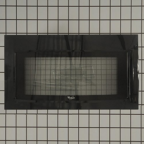 Whirlpool Part Number W10211463: COMPLETE DOOR (Black) (Whirlpool Wmh1162xvb compare prices)