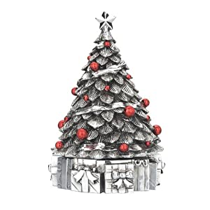 #!Cheap Reed & Barton Revolving Christmas Tree Muscic Box