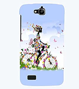 printtech Butterfly girl Back Case Cover for Huawei Honor Holly