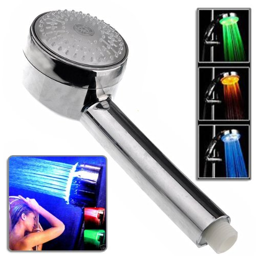 Lightinthebox 8 Inch 7 Colors Changing Led Contemporary Shower Faucet Head Of 8 Inch (Smart Auto-Change)