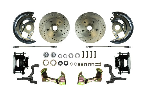 Right Stuff Detailing AFXWK01CS Disc Brake Conversion Kit with Black Drilled/Slotted PC and Stainless Steel Hoses (Pontiac Stuff compare prices)