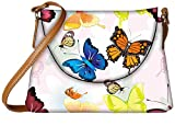 Snoogg Abstract Butterflies Pattern Design Designer Womens Carry Around Sling Bags